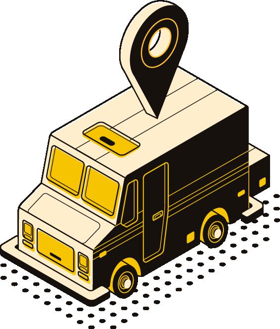 caminhão com tag geolocalizadora